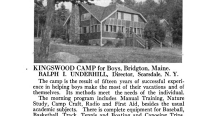 newspaper clipping photo of the dining hall