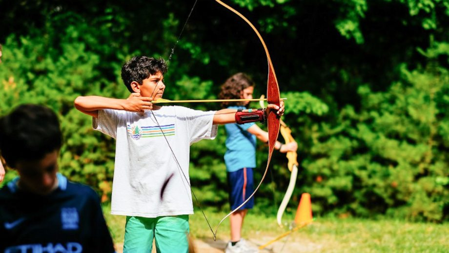 boys at archery
