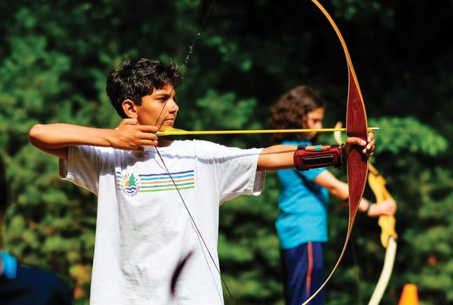 boy at archery