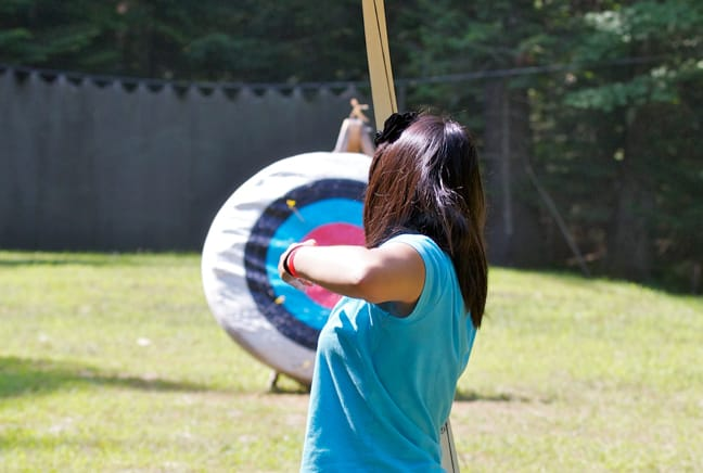 girl at archery