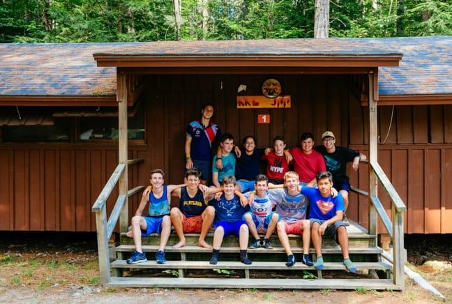 boys on bunk porch