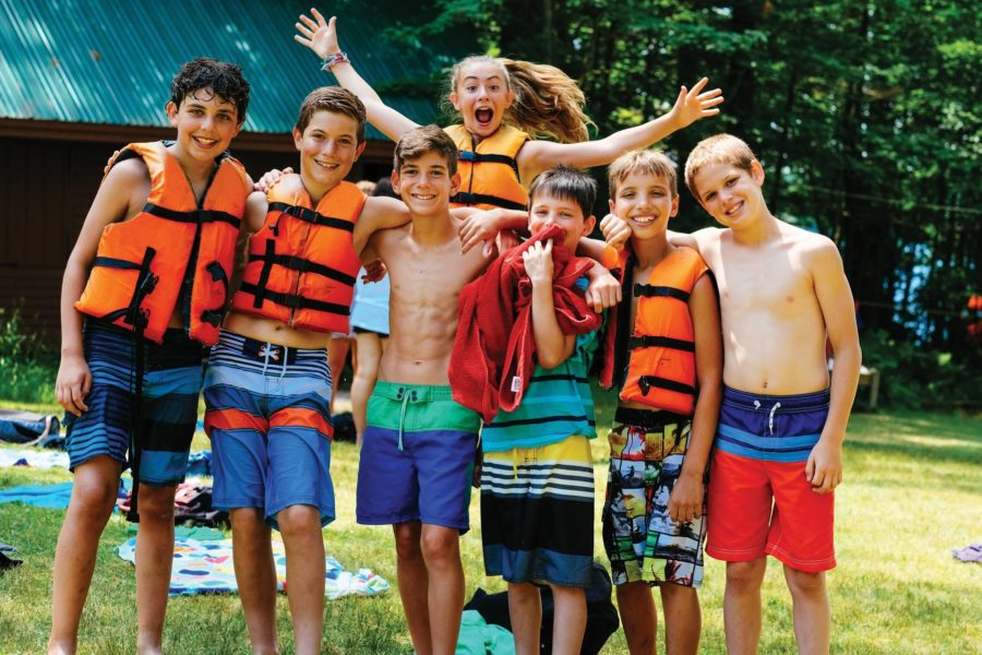 campers in life jackets