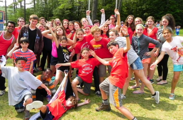 red team smiling during color war day