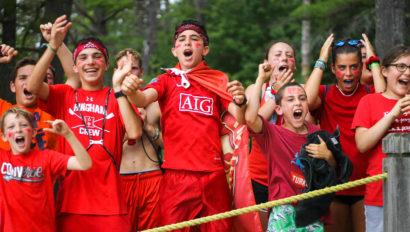 campers at color war screaming