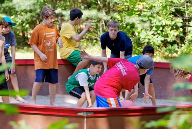 campers playing gaga