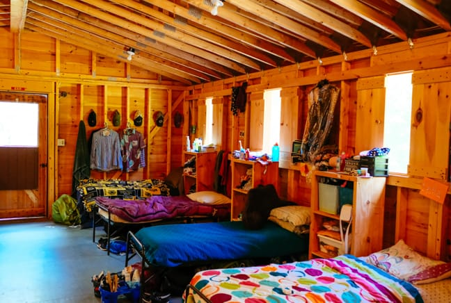 interior of a girls cabin