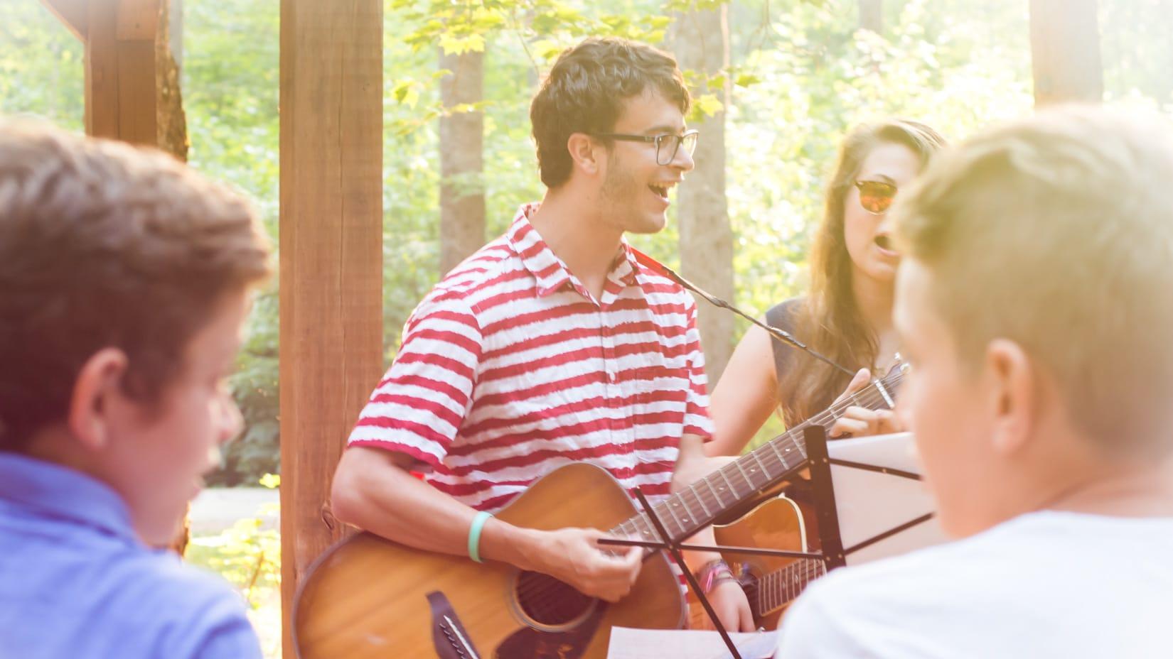 staff singing at a jewish event