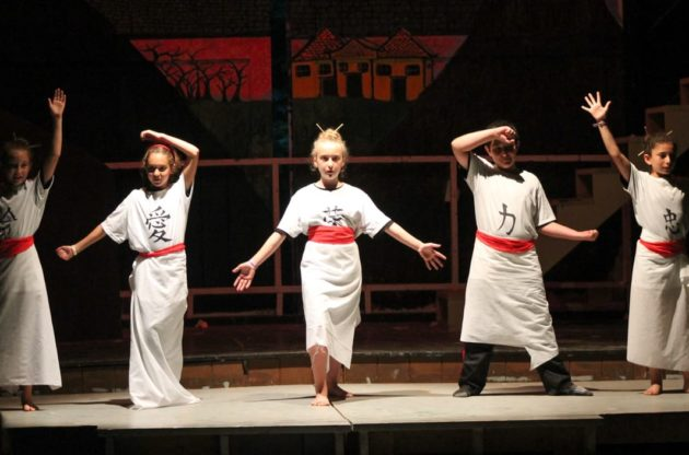 young campers performing a musical