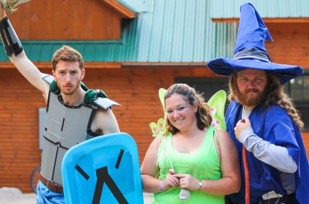 kingswood staff dressed as mystical creatures