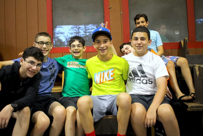 group of boys in the old rec building