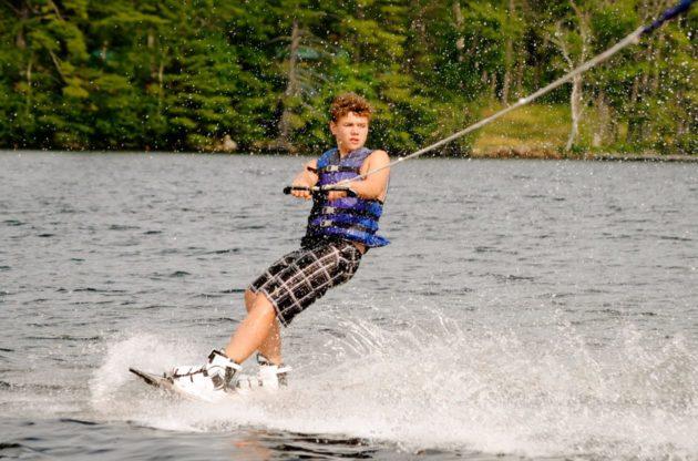 camper wakeboarding